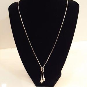 Faux Silver Necklace